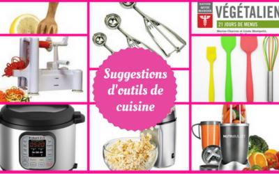 Suggestions d'outils de cuisine