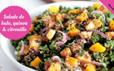 Salade de Kale, quinoa et citrouille
