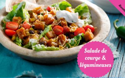 Salade de courge et légumineuses