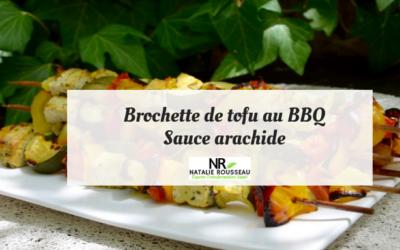 Brochettes de tofu au BBQ sauce arachide