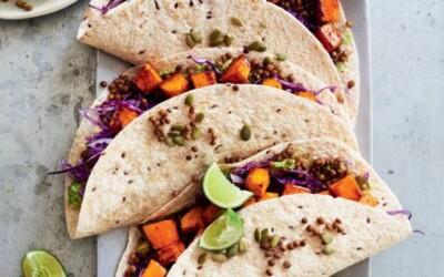 Burritos de courge rôtie à l'érable