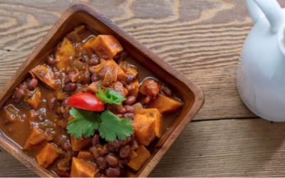 Chili aux haricots noirs et patate douce