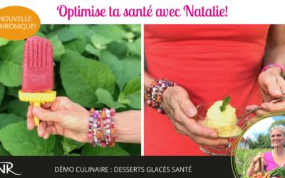 Sorbets glacés Pina Colada, Framboise & basilic & Granité ananas-citron