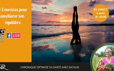 4 exercices pour améliorer ton équilibre – mini circuit